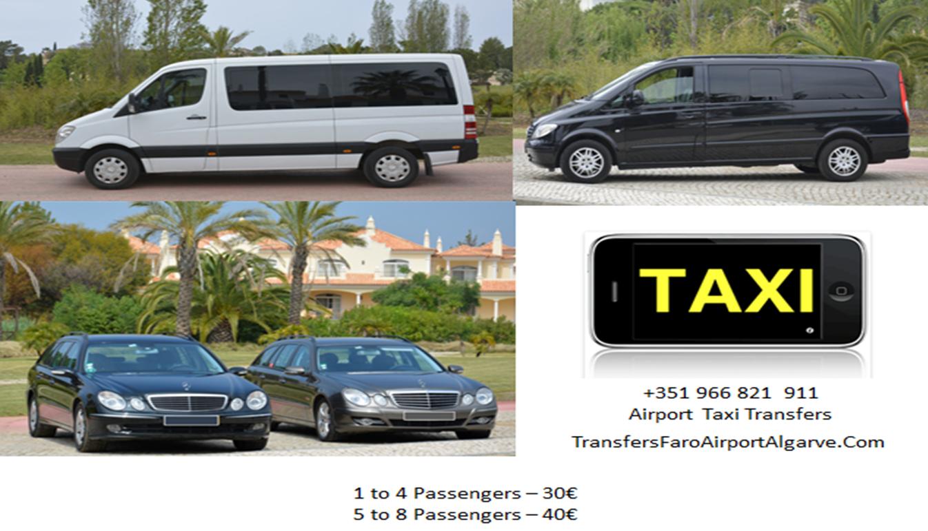 Traslados Aeropuerto - Faro Taxis privada Algarve Portugal (Transferencias Faro Aeropuerto)